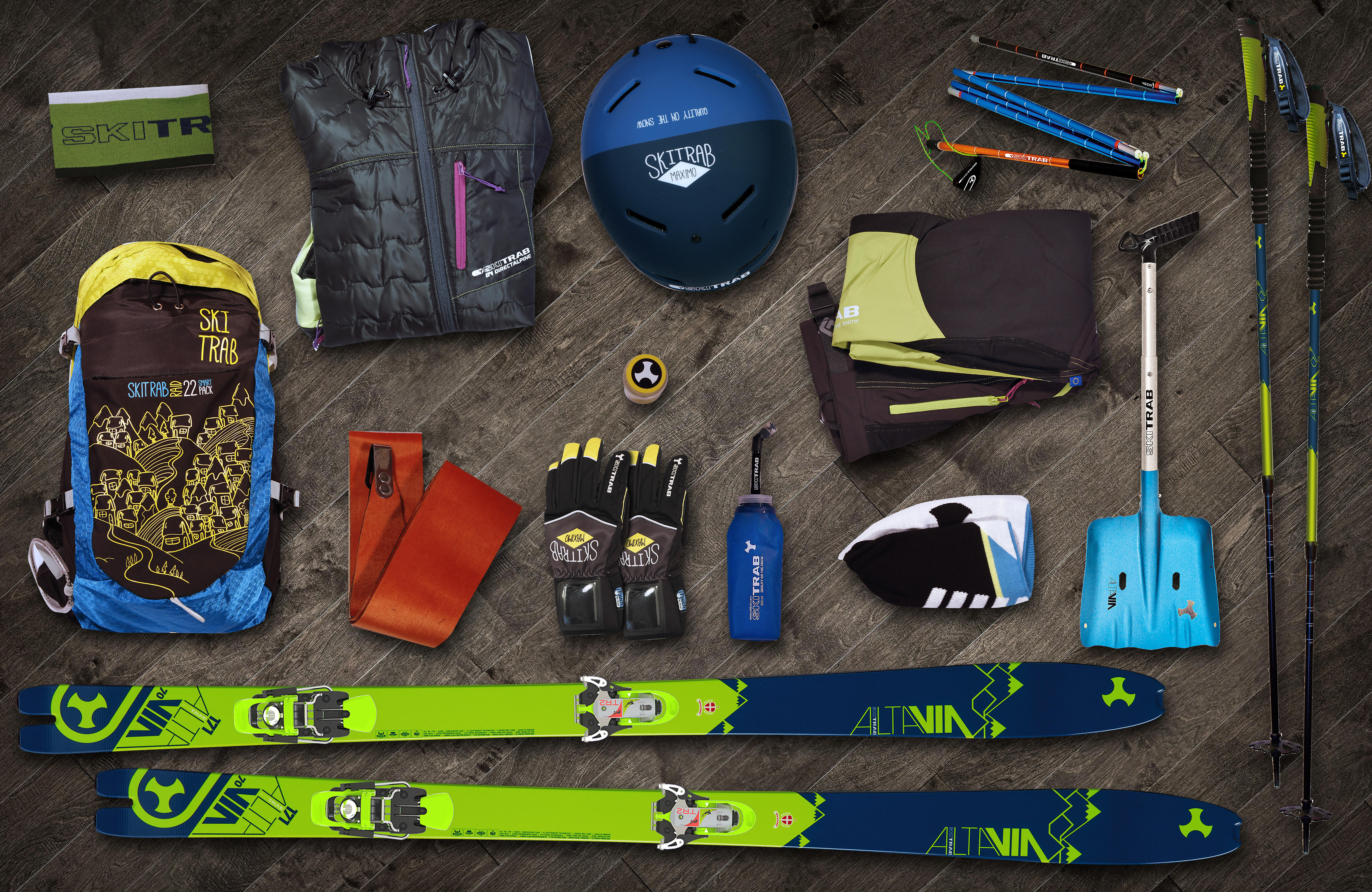 For lightweight, reliable and fun ski touring discover the Adventure line: Made in Ski Trab!